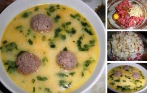 Сырный суп с фрикадельками фото