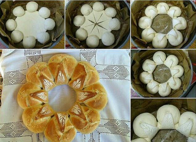 Пирог Ромашка фото