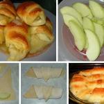 Слойки с яблоками фото