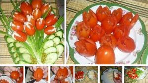 """Салат """"Тюльпаны"""" фото"""