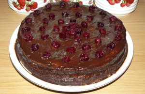 Домашний торт Пьяная вишня