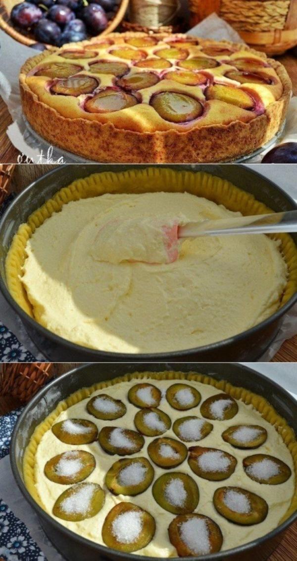 Пирог со сливами - пальчики оближешь