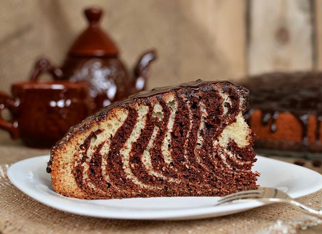 Самый удачный рецепт. Пирог «Зебра»: рецепт нарядного угощения на праздничном столе