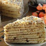 Быстрый торт на сковороде со сгущенкой Каждый кусочек просто тает во рту...