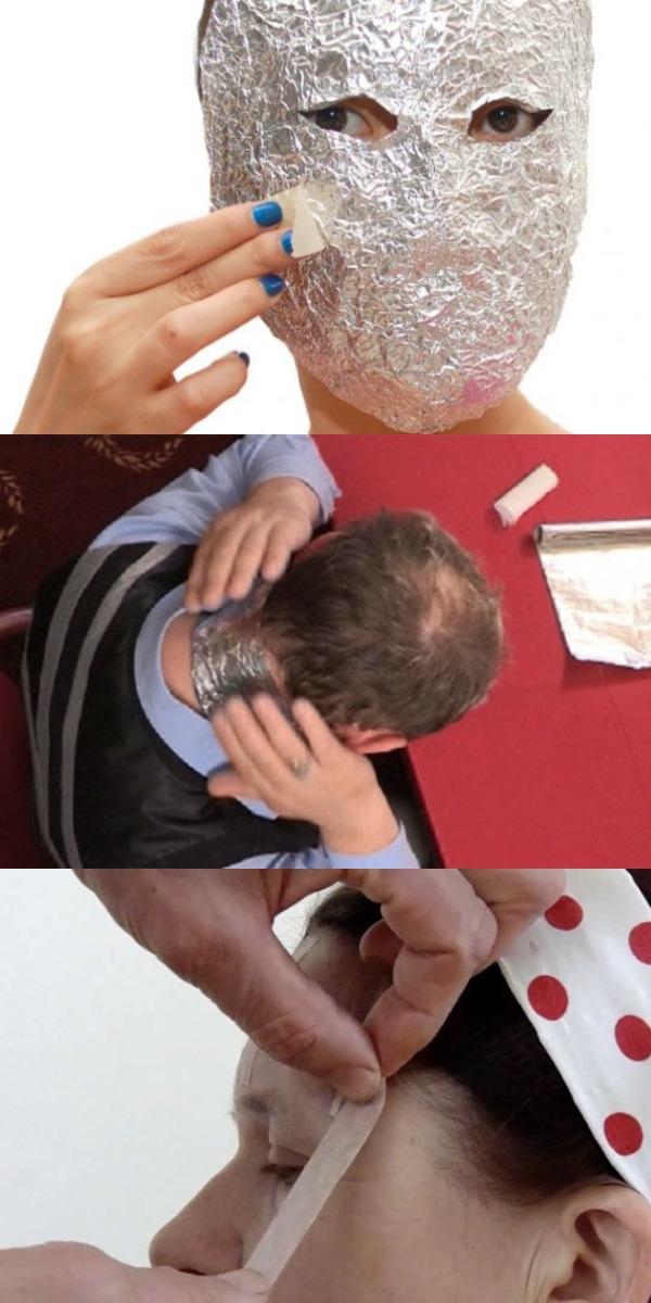 Женщине наклеили на лоб несколько полосок из фольги. Такого эффекта лифтинга я еще не видела!