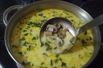 Восхитительный суп с грибами