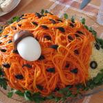 Салат закуска ежик фото