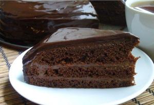 Быстрый шоколадный торт фото