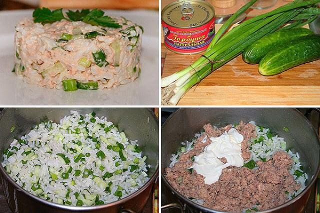 Простой салатик с консервированной рыбой - моя палочка - выручалочка. Просто обалденный салатик. Улетный рецепт.