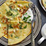 Блины с соленым огурцом и брынзой: лакомство, невероятно вкусное! Мой рецепт!