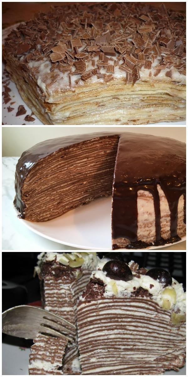 Нежнейший блинный тортик. Красивый, необычный и очень вкусный.
