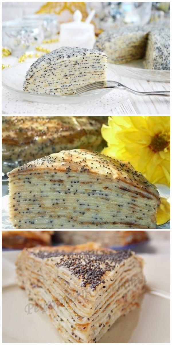 Торт «Маковка» из блинов по старому забытому рецепту